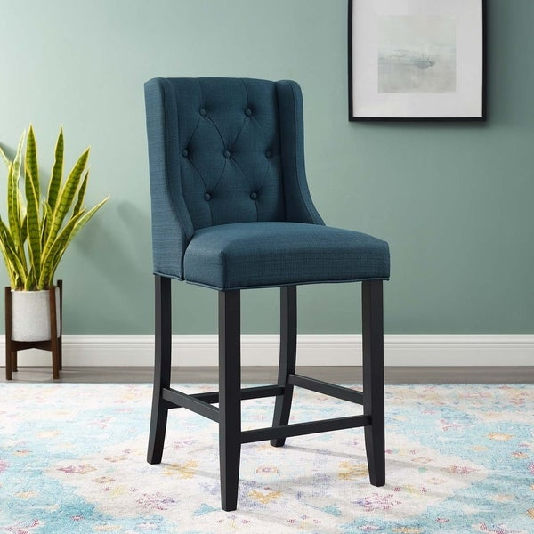 Copper Grove Ninh Button-tufted Upholstered Counter Stool. Opens flyout.