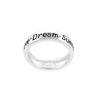 Mondevio Sterling Silver Inspirational 'Dream' Ring