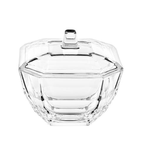 """Majestic Gifts Inc. European Glass Covered Octagon Candy Dish-4.3""""D"""