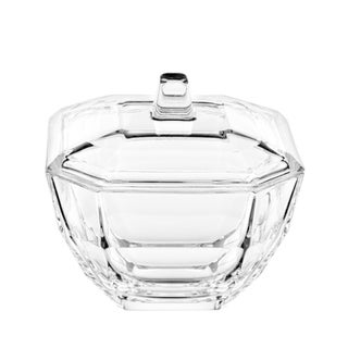 "Majestic Gifts Inc. European Glass Covered Octagon Candy Dish-4.3""D"