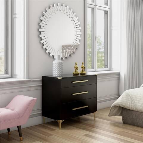 CosmoLiving by Cosmopolitan Karissa 3-Drawer Dresser