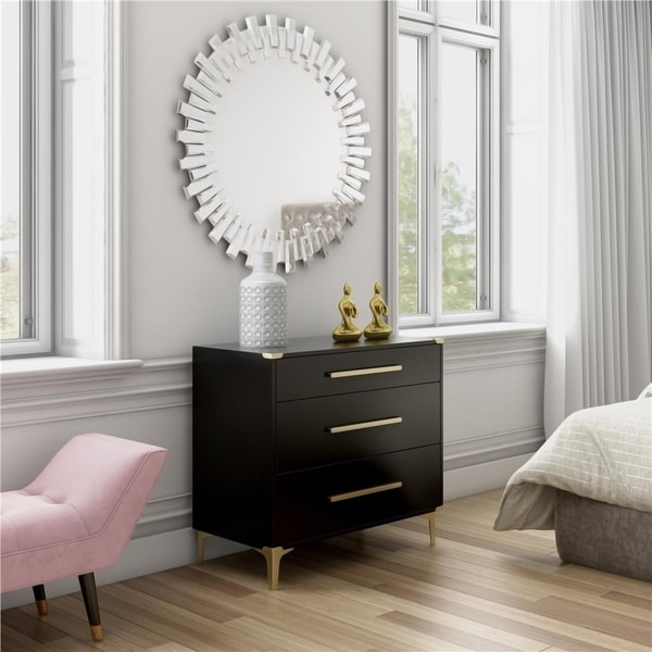 CosmoLiving by Cosmopolitan Karissa 3-Drawer Dresser