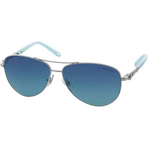 Tiffany TF3049B 6001-9S Silver TF3049B Pilot Sunglasses