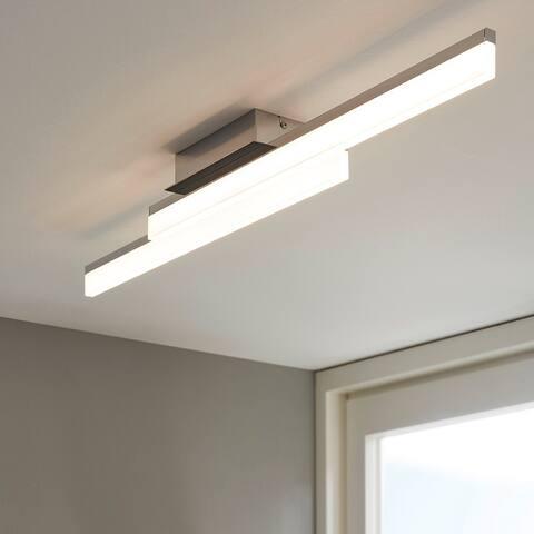 Eglo Palmital 1 LED Ceiling Light w/ Chrome Finish and Satin Shade