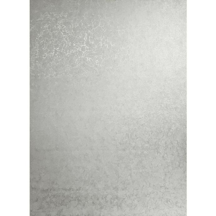 Wallpaper Silver Metallic Cracks White Plaster Plain Textured Wall