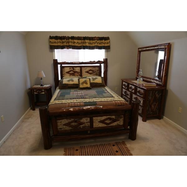 Red Cedar Log - Diamond Bedroom Set - Adirondack Collection. Opens flyout.