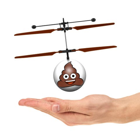 Emoji Poop IR UFO Heli Ball