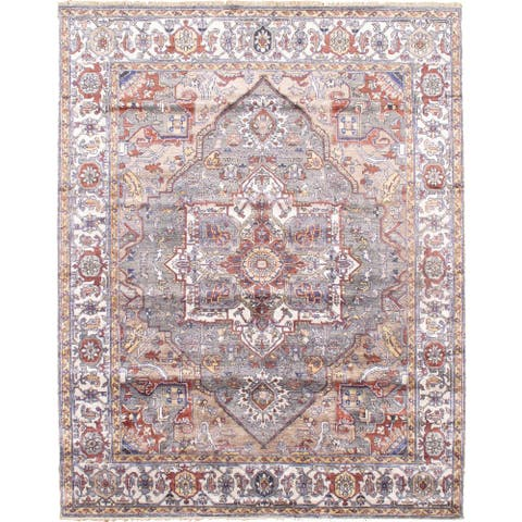 Pasargad DC Beige Persian Serapi Design - 9'' x 9'11''