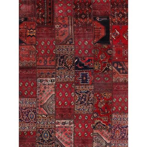 Pasargad DC Red Persian Patchwork - 6' x 8'