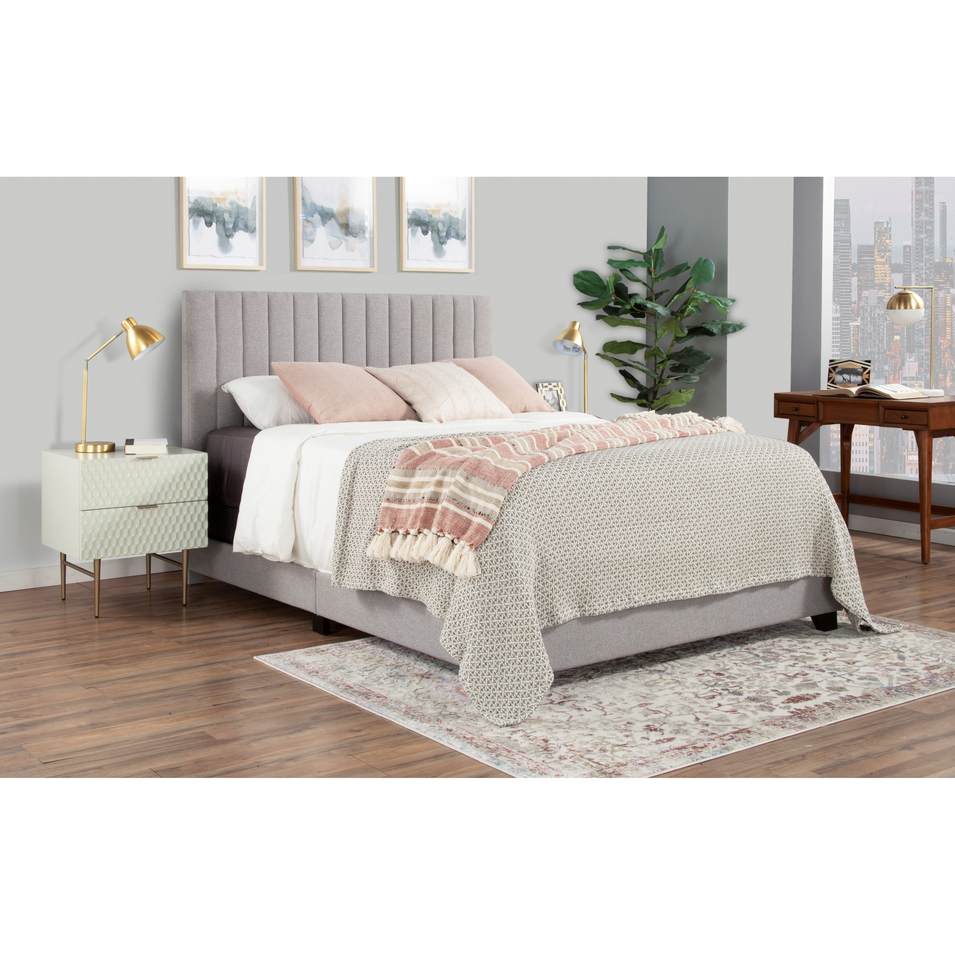 Copper Grove Chambeshi Channel Tufted Bed Overstock 30391807