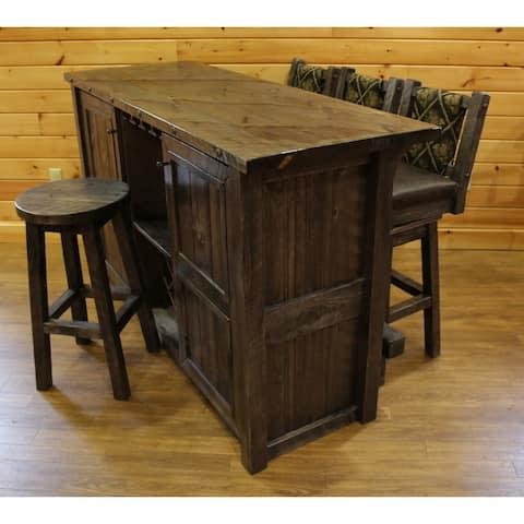 Barnwood Style Timber Peg - Bar Set