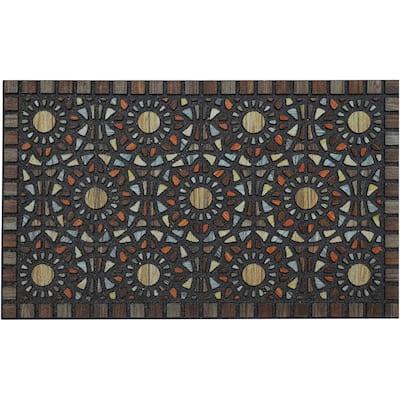"""Mohawk Doorscapes Entranced Mosaic Grain Door Mat - 1'6"""" x 2'6"""""""