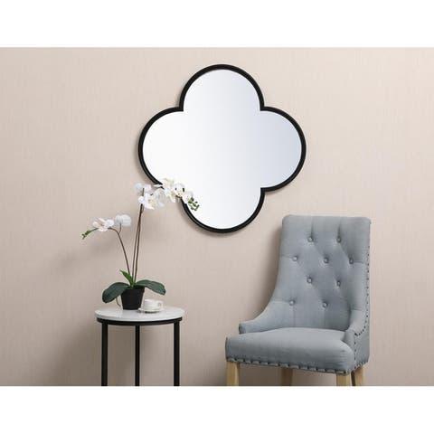 Plum Metal Framed Mirror