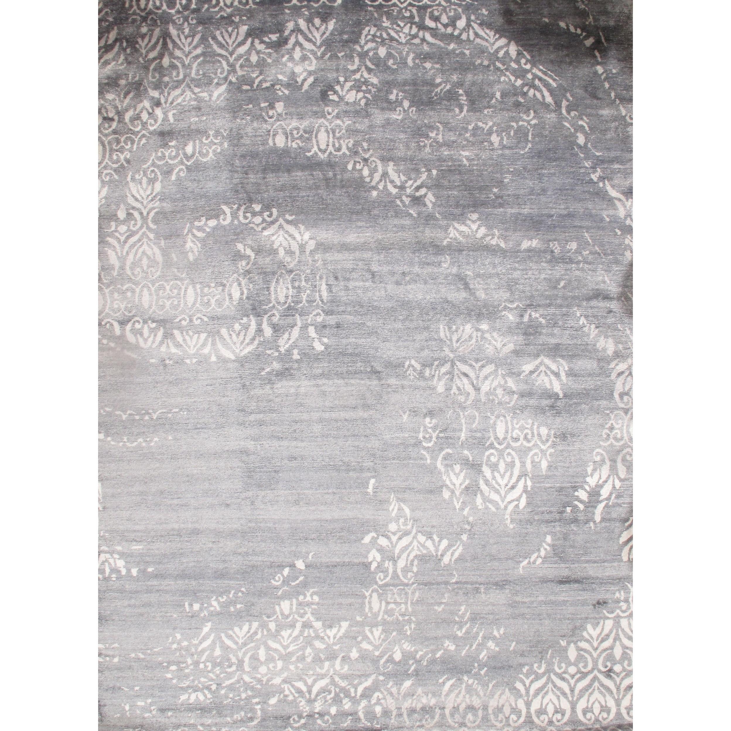 Pasargad Dc Gray Modern Bamboo Silk Rug