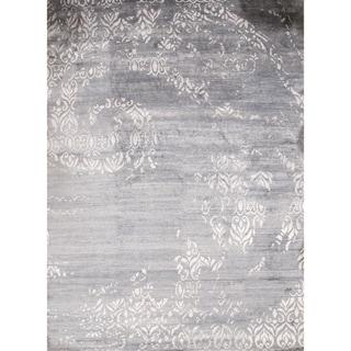 Pasargad DC Gray Modern Bamboo Silk Rug - 10' x 14'7''