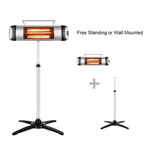1pc1500W Patio and Outdoor Heater with Remote Control