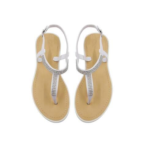 Sara Z Ladies T-Strap PCU Sandal by  Best