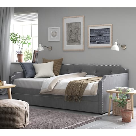 Copper Grove Livingstone Upholstered Daybed with Trundle
