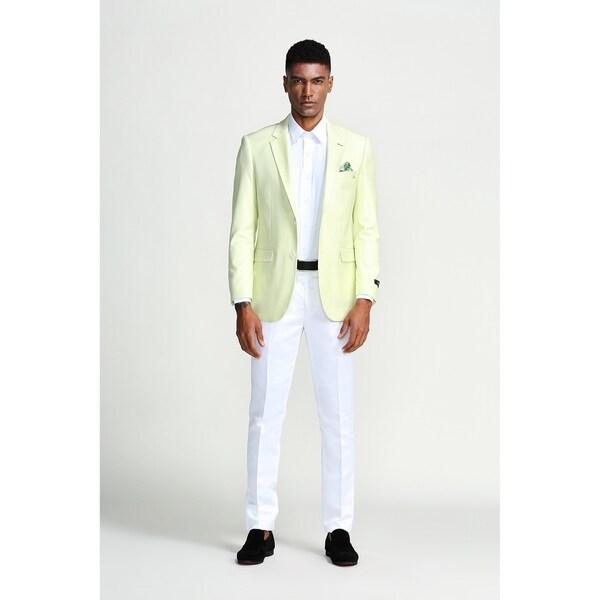 Designer Fashion Jacket Mint Slim Notch Stylish Mens Blazer Jackets