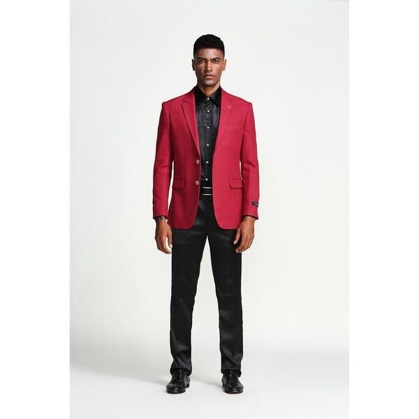 Fashion Jacket Burgundy Solid Slim Fit Stylish Notch Blazer Jackets