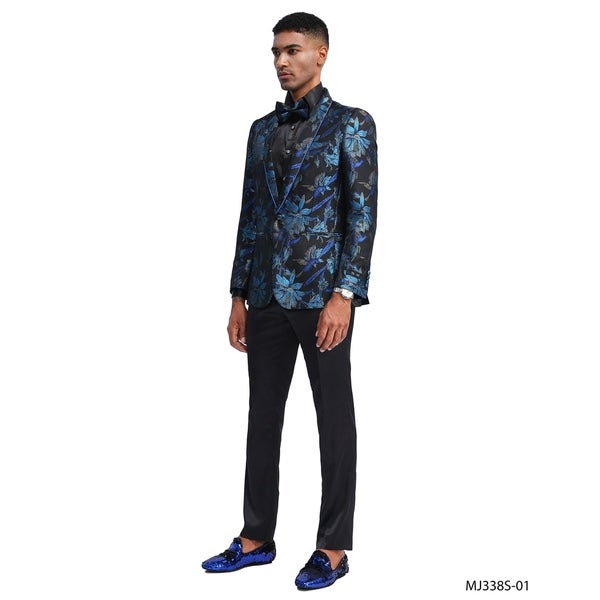 Designer Jacket Slim Fit Royal Floral Design Stylish Blazer Jackets