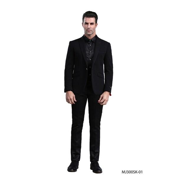 Mens Jacket Black Peak Stylish Slim Fit Blazer Jackets