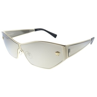Versace  VE 2205 1252/5A Womens Pale Gold Frame Brown Mirror  Gold Lens Sunglasses