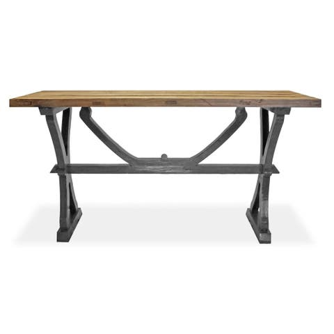 Matteo Reclaimed Ash Wood Two-tone Console Table