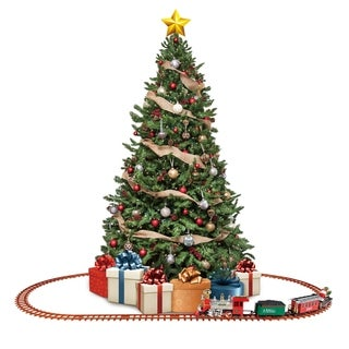 Link to Santa's Choo Choo Electric Train Set with Working Light and Sound Similar Items in Toy Vehicles
