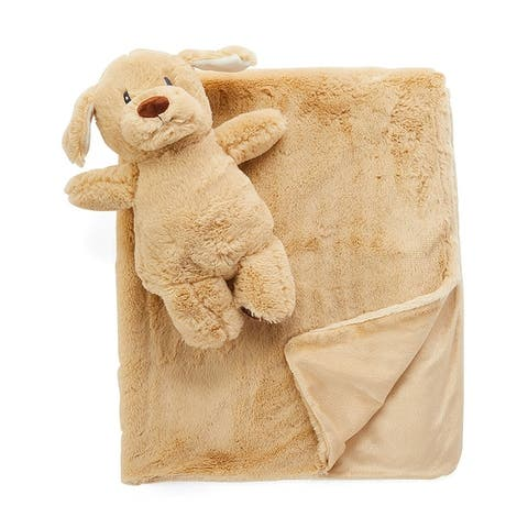 Plush Baby Blanket and Matching Toy Set