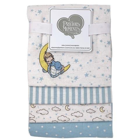 Precious Moments Applique 4 Piece Baby Receiving Blankets