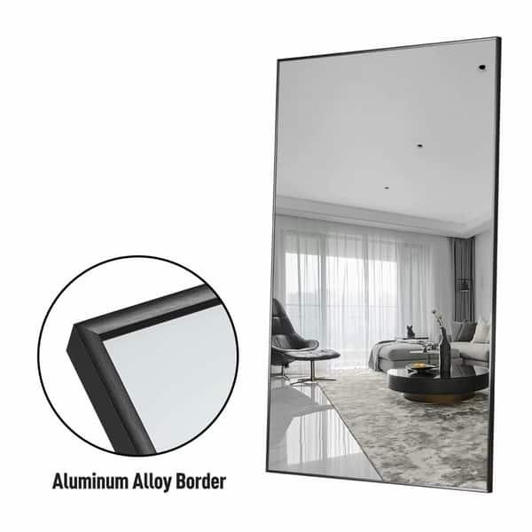 Shop Modern Aluminum Alloy Thin Framed Full Length Floor Mirror