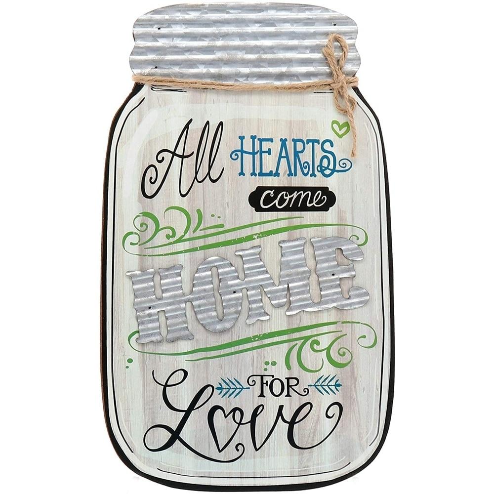 All Hearts Come Home For Love Mason Jar Wood Sign 9 x 14 0a324b85 9853 4dc3 b4b5 75e2066152f0