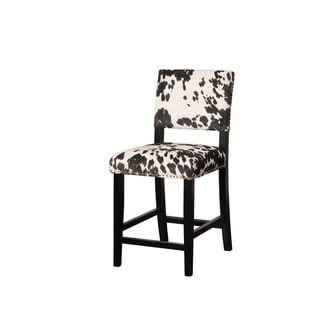Link to Traditional Style Wooden Counter Stool with Footrest, Black and White Similar Items in Dining Room & Bar Furniture