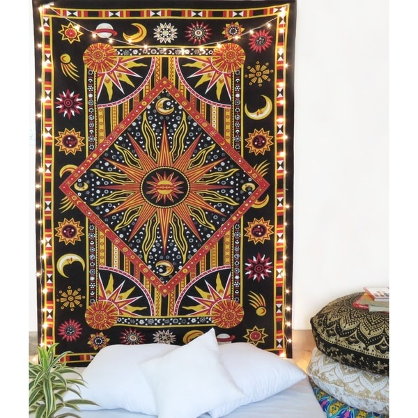 Psychedelic Wall Tapestry Sun and Moon Tapestry Wall Hanging Tapestry Room Decor