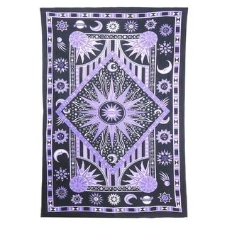 Sun Moon Stars Psychedlic Tapestry Bohemian Indian Hippie Room Decor Wall Hanging Bedspread