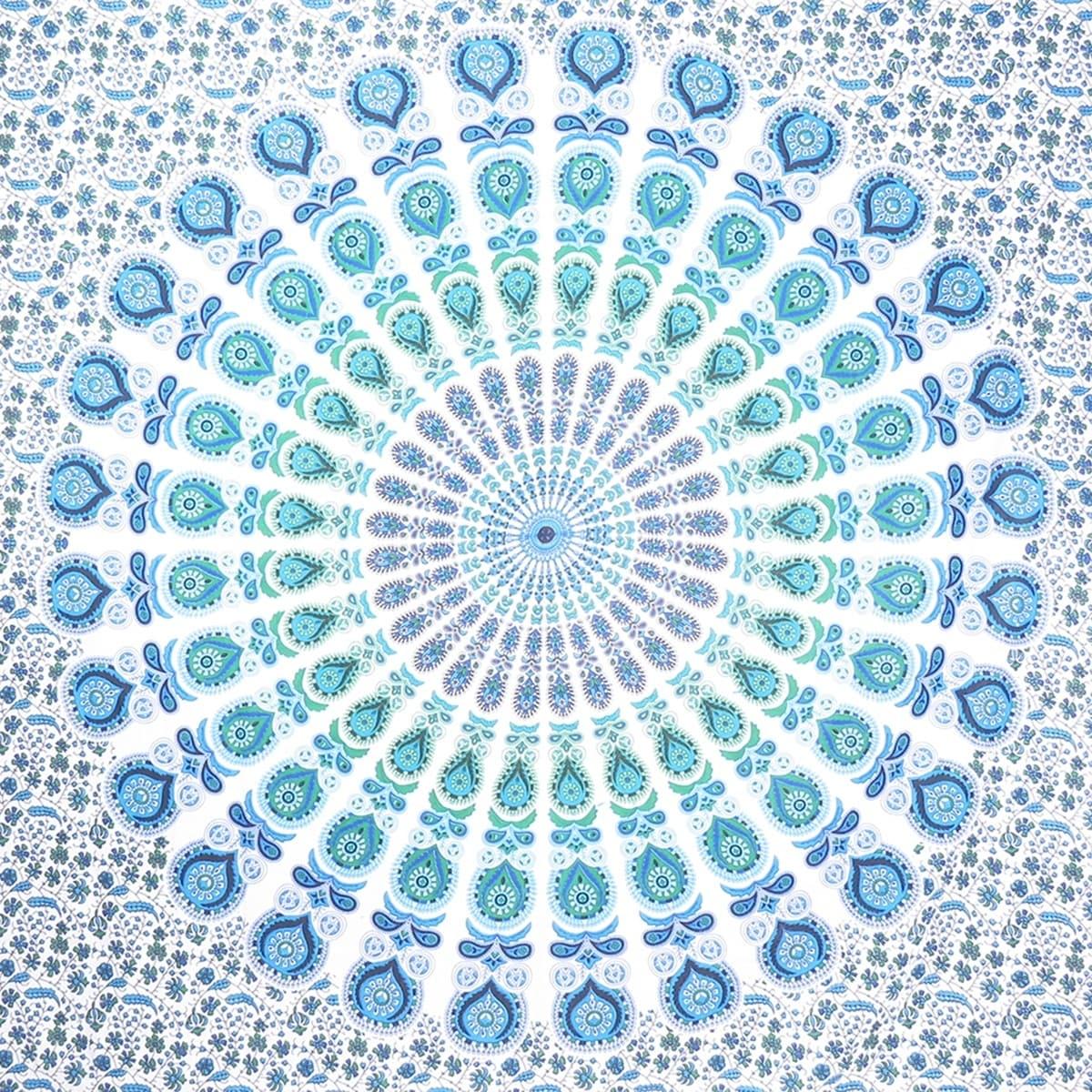 Home Decor Blue Turquoise Color Mandala Indian Hippie Wall Tapestry Room Decor Bohemian Art Home Garden Marketplatforms Com