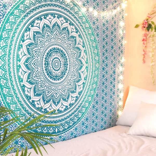 Shop Oussum Mandala Tapestry Wall Hanging Bedroom Dorm Decor Beach Towel Yoga Mat On Sale Overstock 30395493