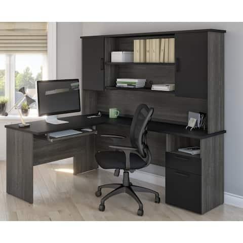 Copper Grove Neunkirchen L-shaped Desk with Hutch