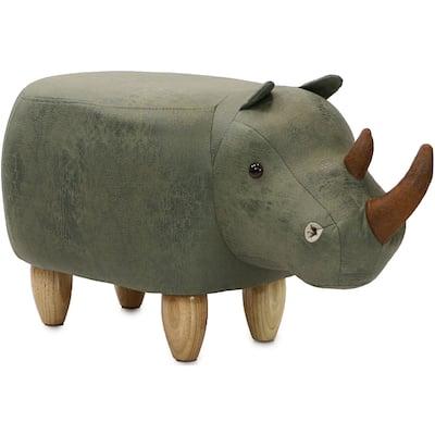 Taylor & Olive Green Rhino Ottoman - N/A