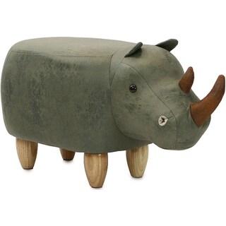 Taylor & Olive Green Rhino Ottoman