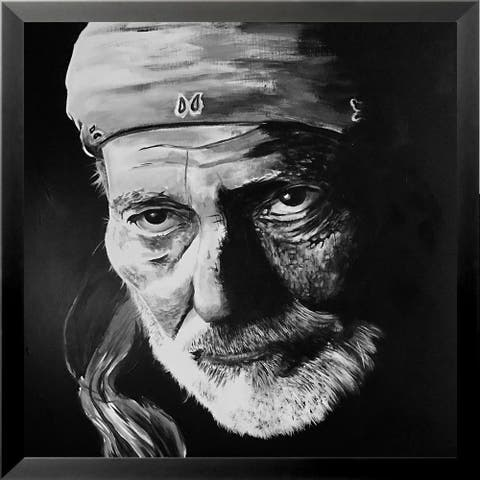 FRAMED Willie Nelson by Ed Capeau Art Painting Reproduction
