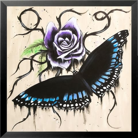 FRAMED Rosey Butterfly by Ed Capeau Art Painting Reproduction
