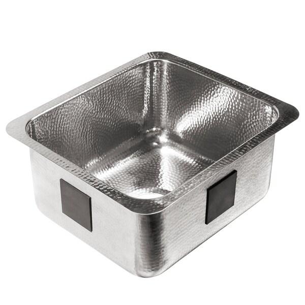 Wilson Undermount Crafted Stainless Steel 17 in. Bar Prep Sink - 17 L X 15 W