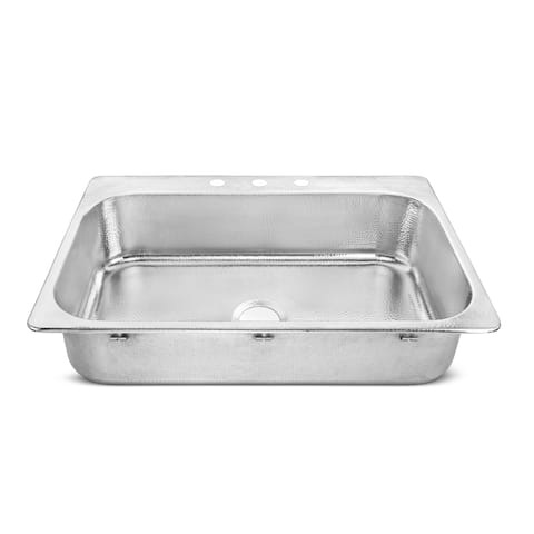Graham Drop-In Crafted Stainless Steel 33 in. Single Bowl Kitchen Sink - 33 L X 22 W - 33 L X 22 W