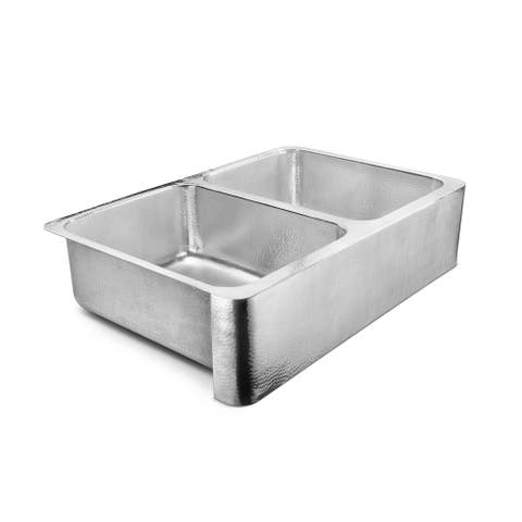 Anning Farmhouse Apron-Front Crafted Stainless Steel 32 in. Single Bowl Kitchen Sink - 32 L X 21.5 W - 32 L X 21.5 W