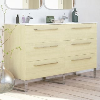 Modern Double Bathroom Vanity Cabinet