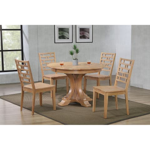 The Gray Barn Manse 5-piece Dining Set with Designer Back Chairs
