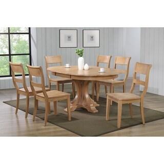 "Iconic Furniture Co 45""x45""x63"" Deco Hampton Beech Dining  7-Piece Dining Set"