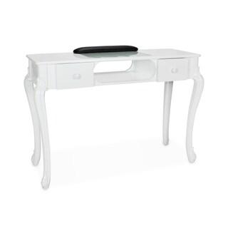 FIONA Nail Table, Stylish and Elegant White Nail Art Table for Nail Salon Manicure